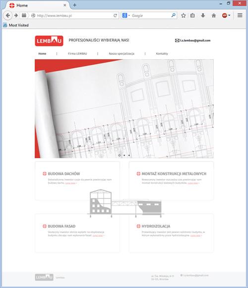 Сайт проектно-будівельної компанії «LEMBAU».